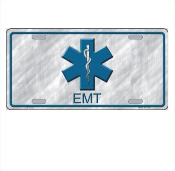 """EMT Logo Metal Novelty License Plate Tag 6"""" x 12"""""""