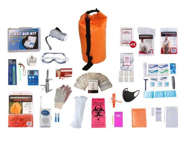 1 Person Survival Kit Orange Bag