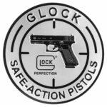"Glock Perfection Safe Action Pistols Round 12"" Metal/ Aluminum Sign"