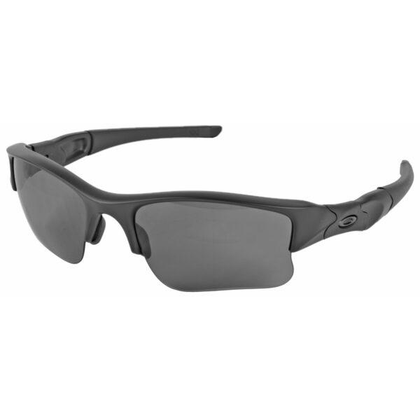 Oakley Standard Issue Flak Jacket XLJ Glasses Matte Black Frame w/ Grey Lenses