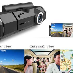 Dual HD Car Camera Dashcam C5595 with WIFI & GPS Tracking